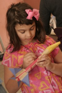 Node Paper Rocket Little Girl Writing